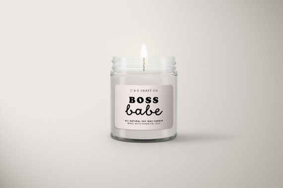 C&E  Boss Babe  Soy Wax Candle  Gift for Her