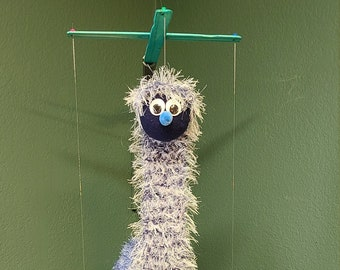 Fuzzy Marionette Puppet Handcrafted