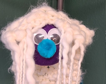 Hand Crafted Marionette Puppet - One of a Kind Fuzzy Friends