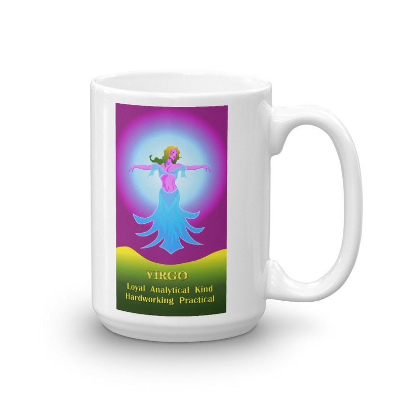 Virgo Loyal Analytical Kind Hardworking Practical Zodiac Mug