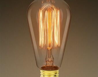4 Light bulb pendants antique silver tone P33