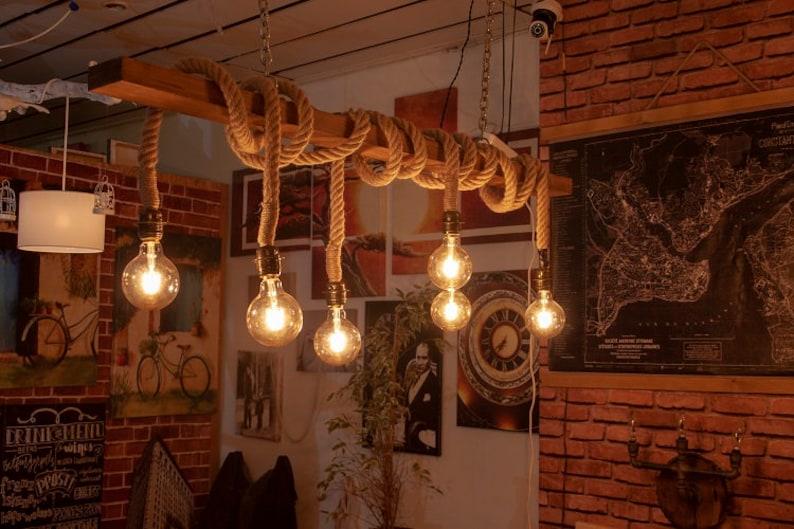 792fc1808daff Reclaimed Farmhouse Lighting Fixture, Chandelier, Rustic Pendant Hanging  Lighting - 6 Pendants ALR005