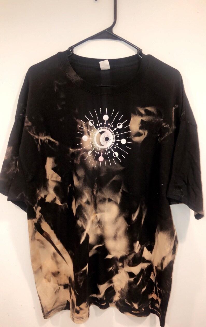 Hippie acid wash shirt