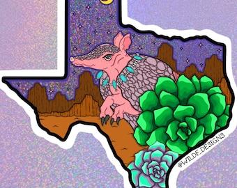 "Armadillo love sticker *H168* 6/"" vinyl texas decal"