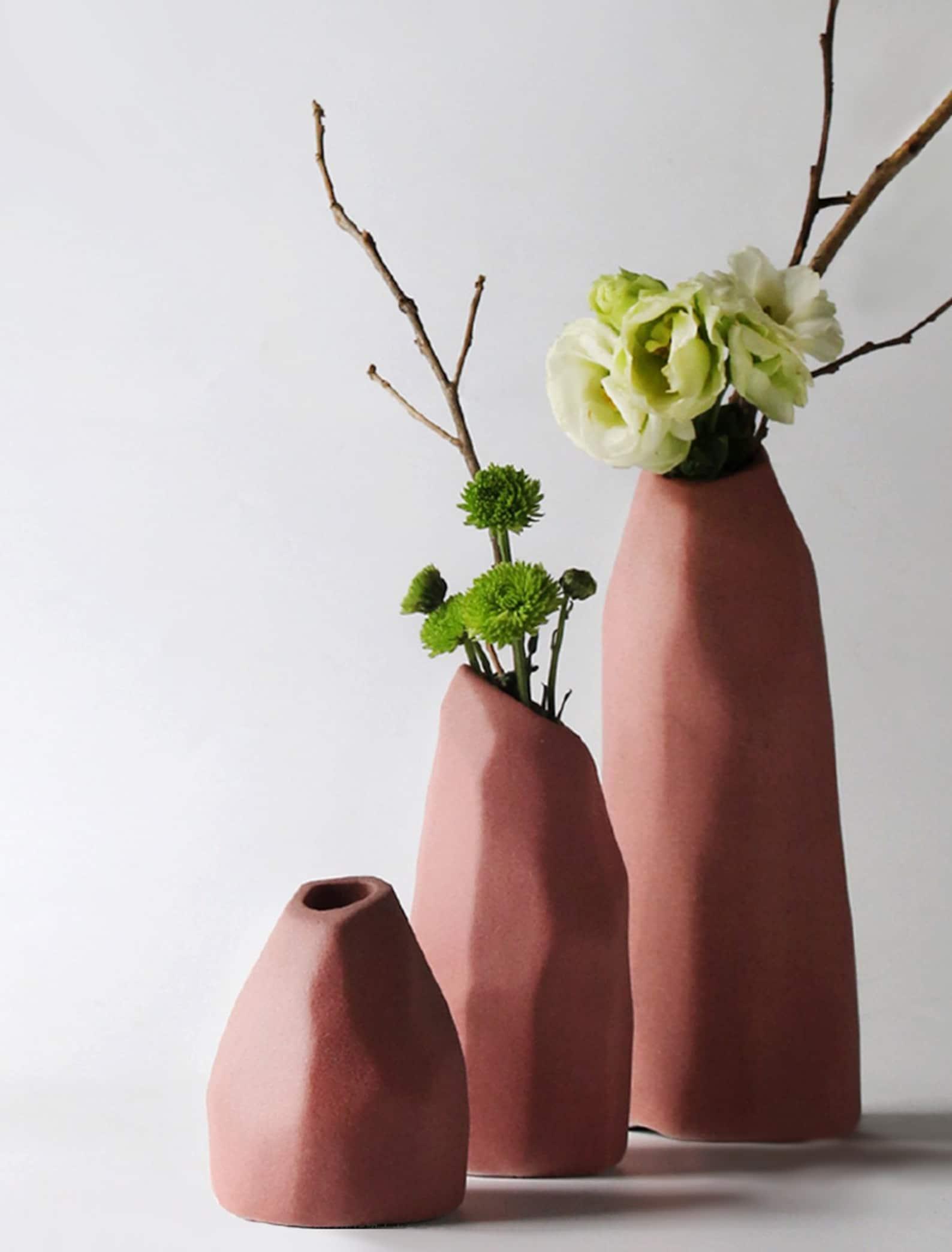 Geometric Handmade Clay Vase