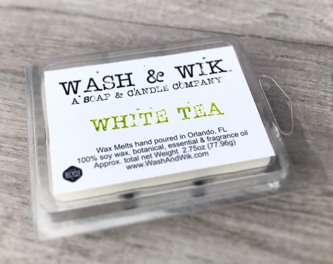 Featured listing image: White Tea Soy Wax Melts | White Tea Scent | Fresh Wax Melts | Soy Wax Melts | Wax Tarts | Scented Wax Melts (Phthalate Free)