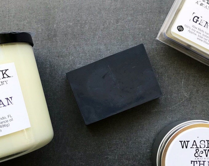 Featured listing image: The Gentleman's Bar  |  Activated Charcoal  |  Donkey's Milk Soap  |  Scented Soap – 4oz