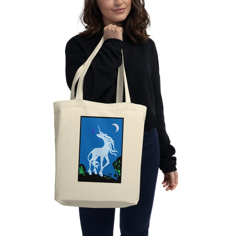 Delicate Unicorn Eco Tote Bag