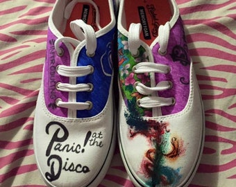 2cda88f8 Panic at the disco shoes | Etsy