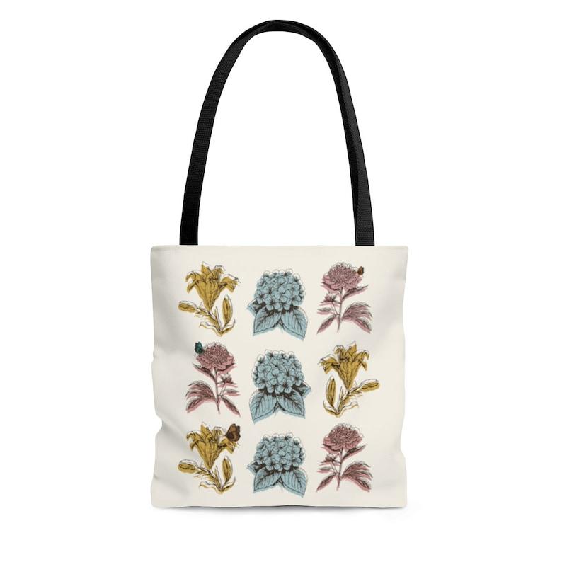 AOP Tote Bag Flower Print