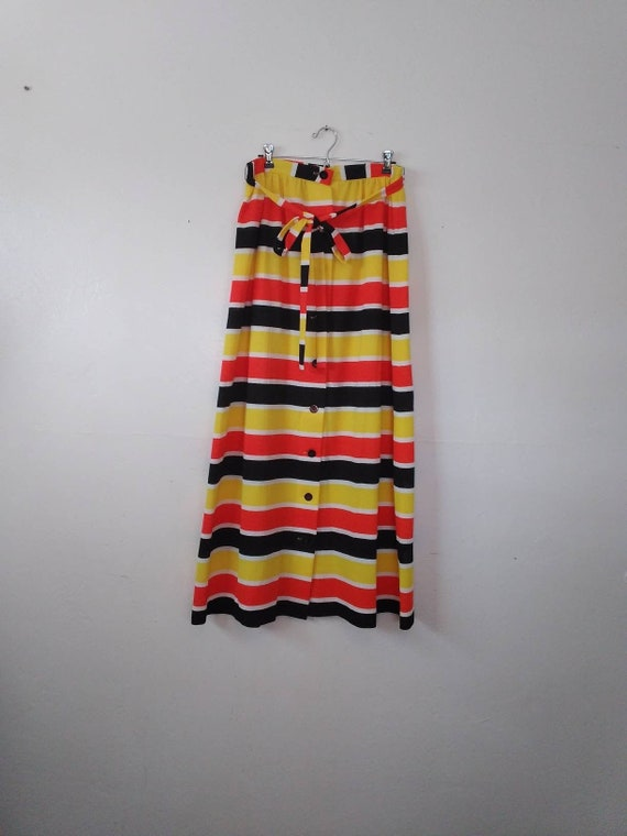Vintage 70's Alex Coleman Maxi  Skirt - Fall Color