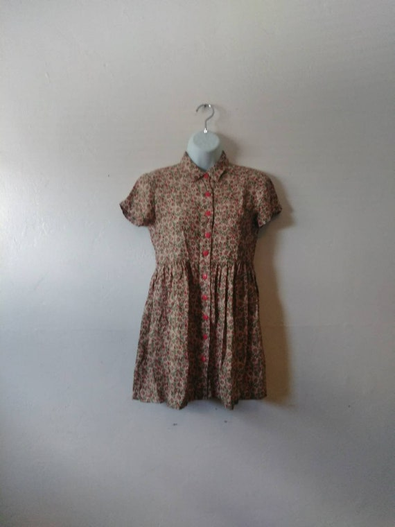Retro 90's Sunflower Baby Doll Dress - By R-Wear R