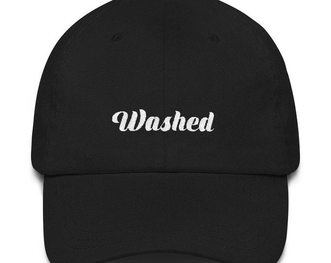 Washed dad hat
