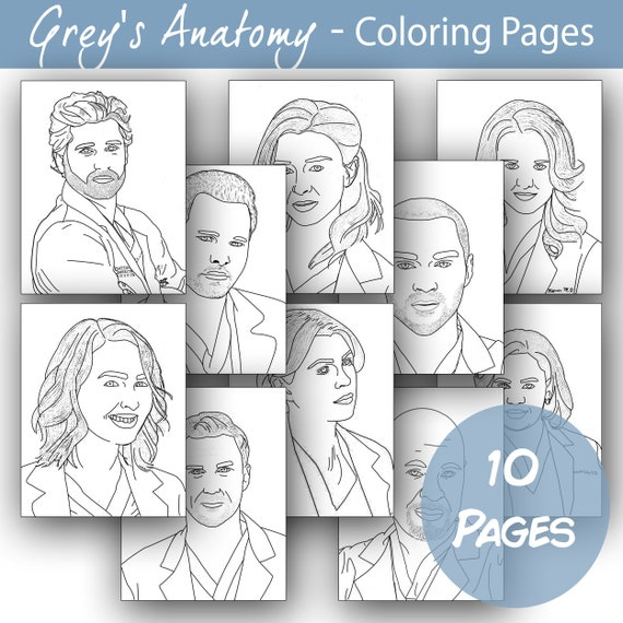 - Printable Grey's Anatomy Coloring Pages Etsy