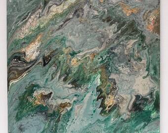 Emerald Acrylic Original