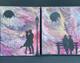 """Original Art """"Love in the City"""" and """"Endless Love"""""""