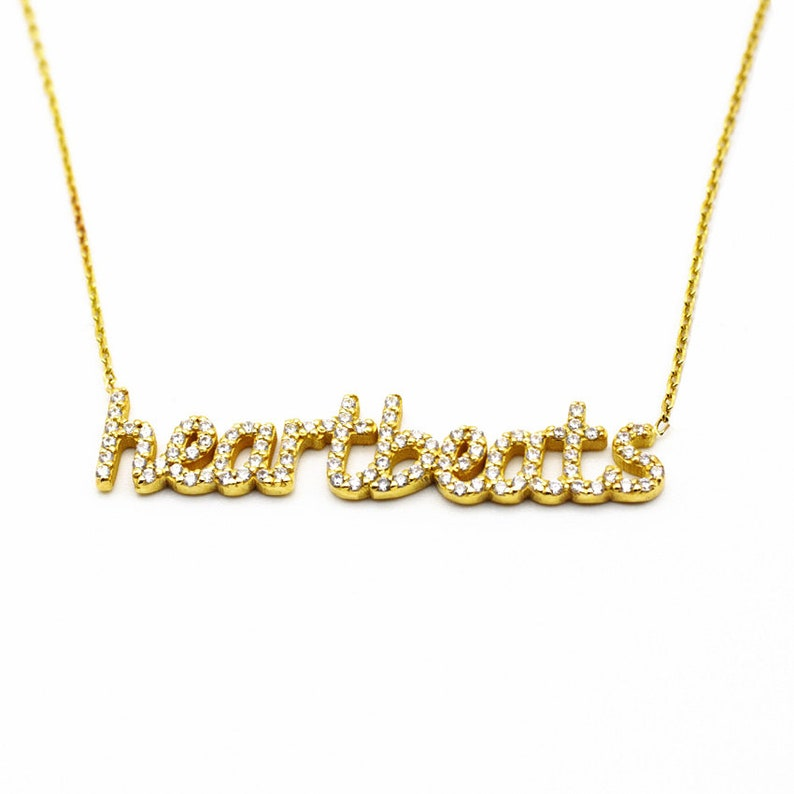 dad3ff613d96c Personalized 2 Names Necklace with Pave Stone - Personalized Name Necklace  - Baby Girl Necklace - Bridesmaids Gift - Mother's Day Gift