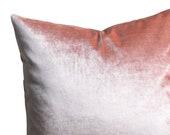 Blush Antique Velvet Pillow Cover Faux Silk velvet Pink Velvet Pillow case Blush Velvet pillow Pink Velvet Euro Sham
