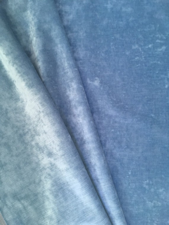 Ice Blue Upholstery Fabric By The Yard Light Blue Velvet Etsy