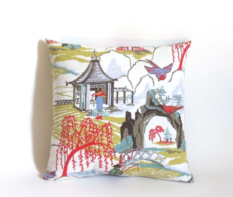 Etsy Cuscini.Mid Century Asian Pillow Housse Coussin Cuscini Etsy