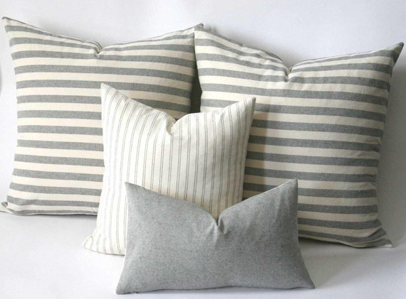 Grey Pillow Cover / Solid Grey Pillow / Decorative Grey Throw Pillow / Grey  Sofa Pillow Cover / Heather Gray Pillow Case