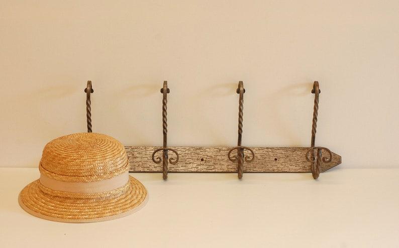 Vintage Wall Coat Rack Hanger Metal Wall Hook Hat  Hanger Industrial Mid Century DecorFrench Studio Vintage
