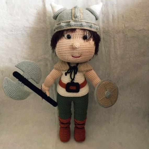 Pedr the Viking Amigurumi Crochet Pattern | Etsy | 569x570