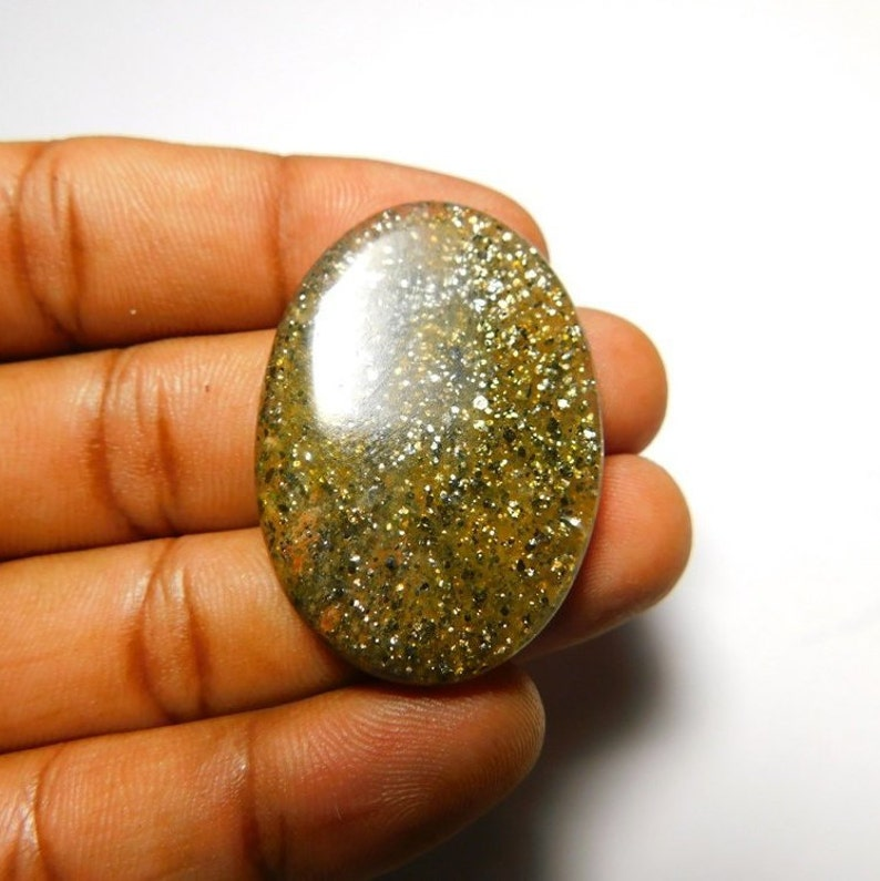 Very Rare Natural Black Quartz Cabochon Top Quality Black Quartz Gemstone Loose stone,Full Sparkle,Black color Cabochon,oval Shape #1130A