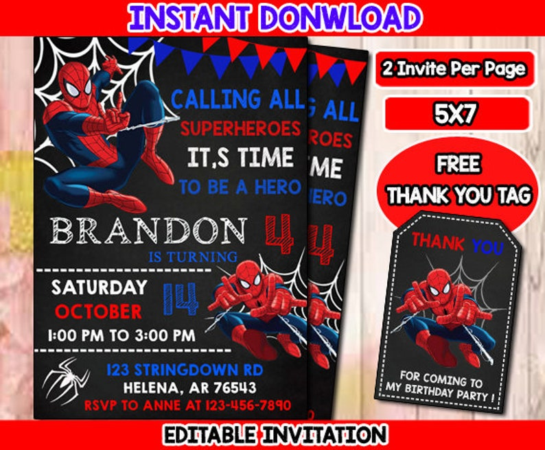 photo relating to Printable Spiderman Invitations identify Spiderman Invitation, Spiderman Birthday Invitation, Spiderman, Spiderman Printable, Spiderman Card, Spiderman Invite Celebration, Electronic, PDF
