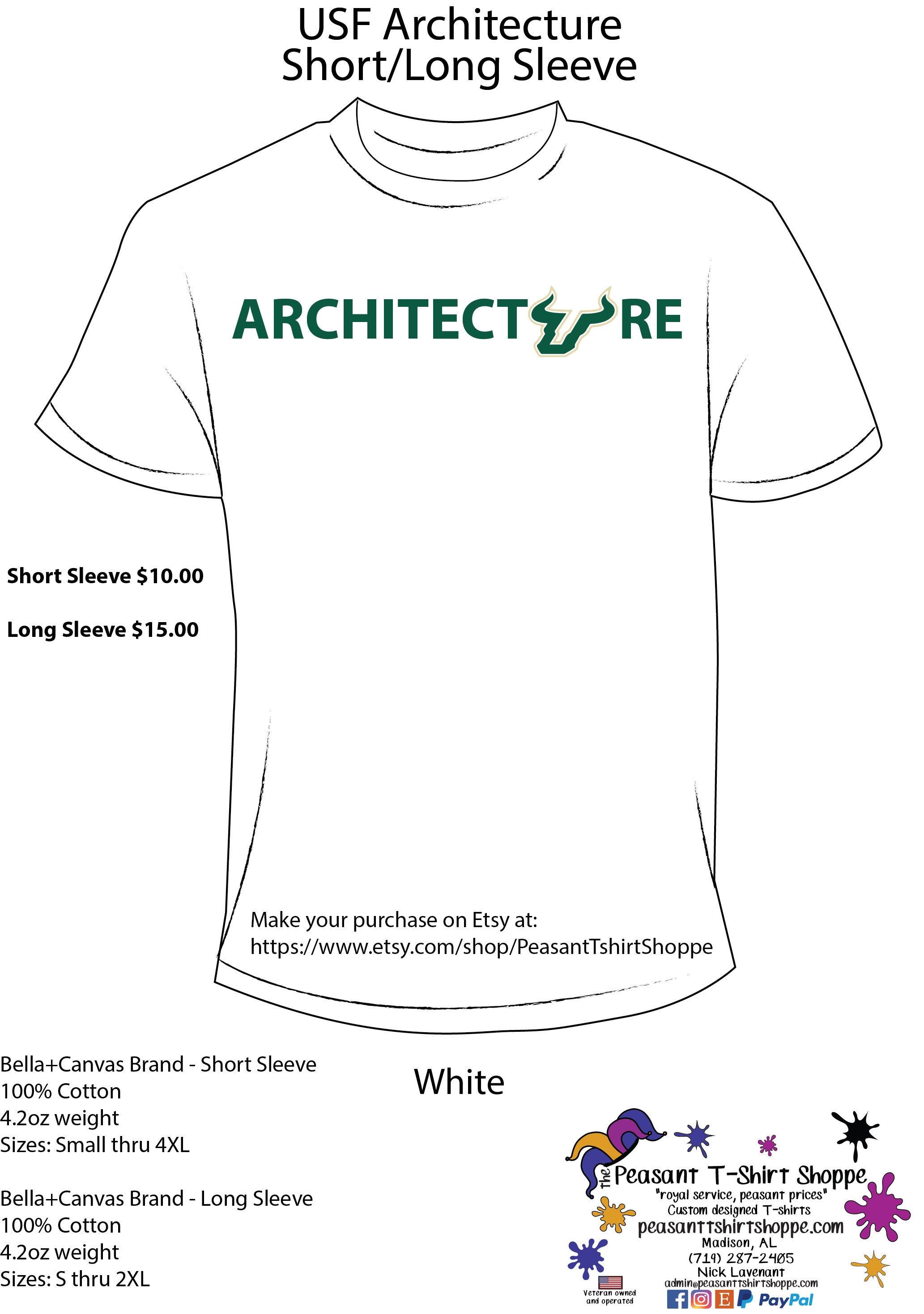 Usf Architecture Custom T Shirt Etsy