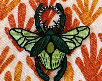 Fig Beetle Scarab Iron-on Patch