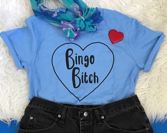 Bingo Bitch T-Shirt in blue