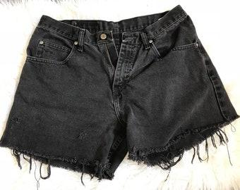 Wrangler Black Denim Shorts