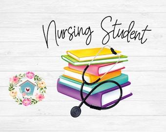 Nursing student stethoscope RN Mug Shirt sublimation digital download PNG
