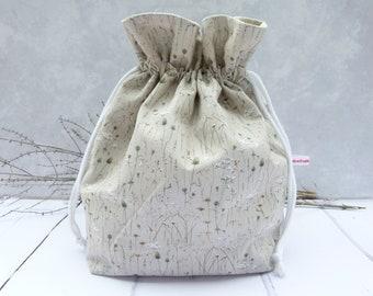 Bread bag, bread basket or bread bag, bread basket, baked goods bag 3 in 1 / winter grass