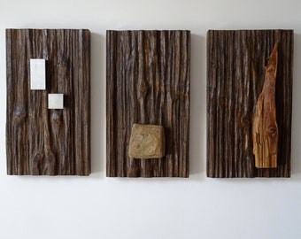 Murals / Mural Art / Wooden Paintings with Attached Iron, Wood, Stone - Handmade