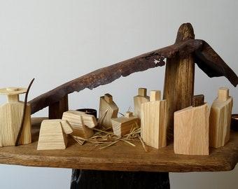 Crib / Wooden Crib / Natural Crib / Crib Figures