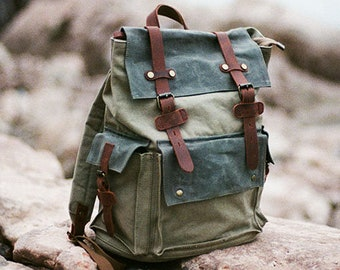 1cbeffc37a Waxed Canvas Travel Backpack