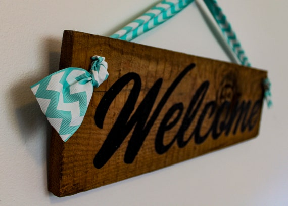 Personalised Handmade Reclaimed Wooden Hanging Rustic Sign