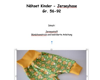 d9e0c253db DIY Nähpackung Babyhose, Jerseyhose nähen, kleiner Löwe, Gr. 56-92