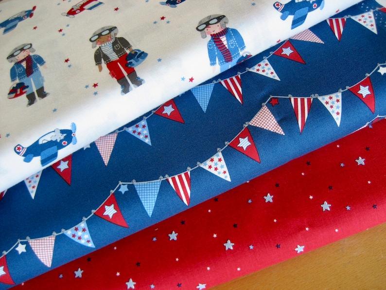 MILLER fabric package 3 x 25 cm x110 cm children's image 0