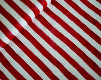 Miller patchwork fabric, country that I love, block stripes red-white