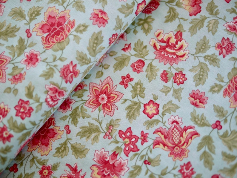 MODA patchwork fabric flowered cotton fabric fabric flowers image 0