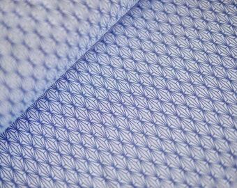 Women's cotton jersey, t-shirt fabric, jersey , small patterned, light blue medium blue