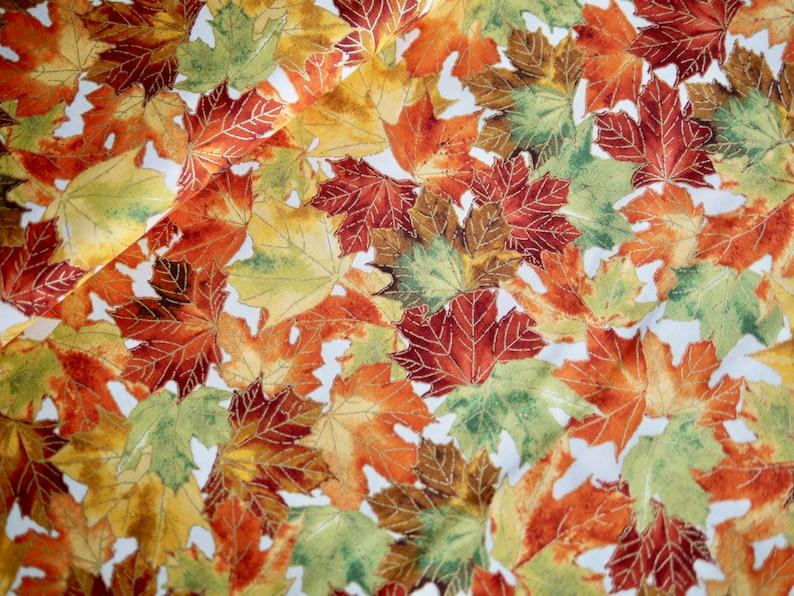 Robert Kaufman patchwork fabric HERBST leaf leaves autumn image 0