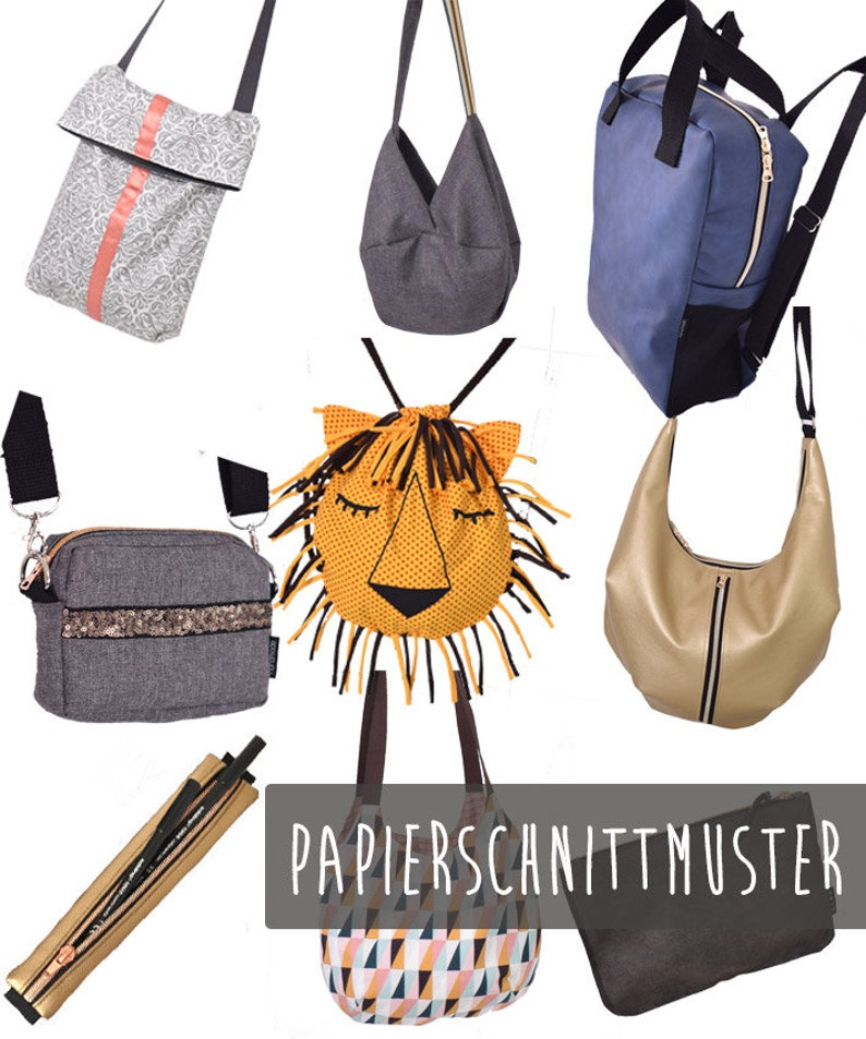 Lenipepunkt Sewing Pattern BAG.pack 9 bags image 0