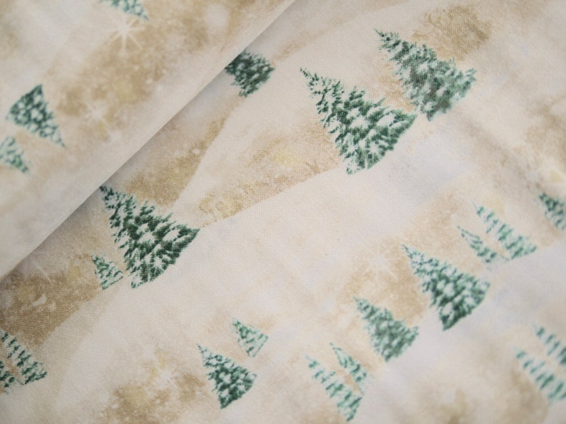 Quilting Treasures Patchwork Fabric Christmas Fabric Fir image 0
