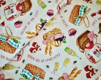 Miller patchwork fabric PICNIC, picnic basket, picnic
