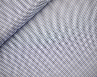 80 cm REST plaid cotton fabric, blouses and shirt fabric blue-white-green