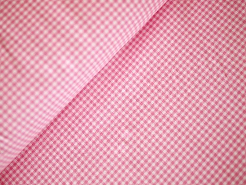 Cotton Jersey jersey jersey kid Vichykaro pink-white image 0
